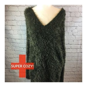 Super Cozy & Fluffy Tunic Sweater